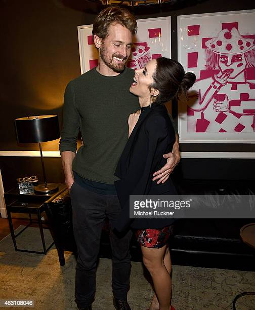Actor Josh Pence and actress Abigail Spencer attend the Dinner and Conversation with the creators of Sundance Channel's Rectify hosted by Jennifer...