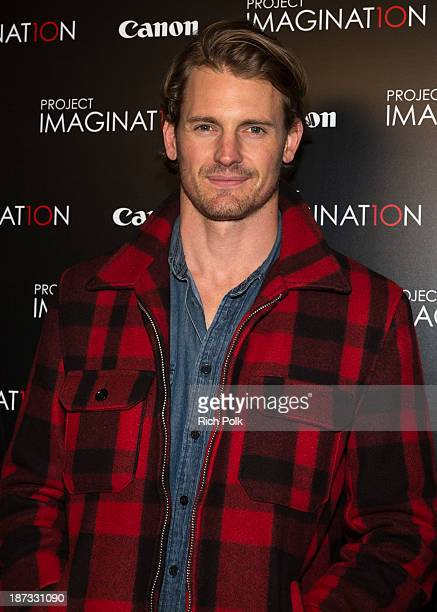 Actor Josh Pence arrives at Canon's Los Angeles Screening Of The Project Imaginat10n Film Festival at Pacific Theaters at the Grove on November 7...