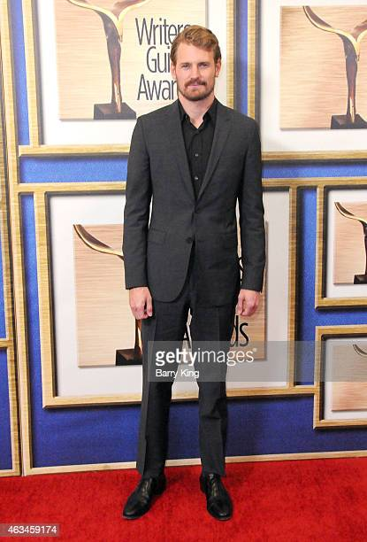 Actor Josh Pence arrives at the 2015 Writers Guild Awards at the Hyatt Regency Century Plaza on February 14 2015 in Los Angeles California