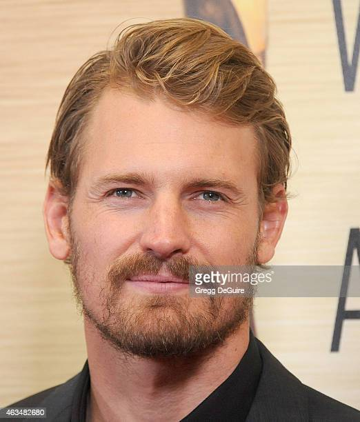 Actor Josh Pence arrives at the 2015 Writers Guild Awards LA Ceremony at the Hyatt Regency Century Plaza on February 14 2015 in Los Angeles California