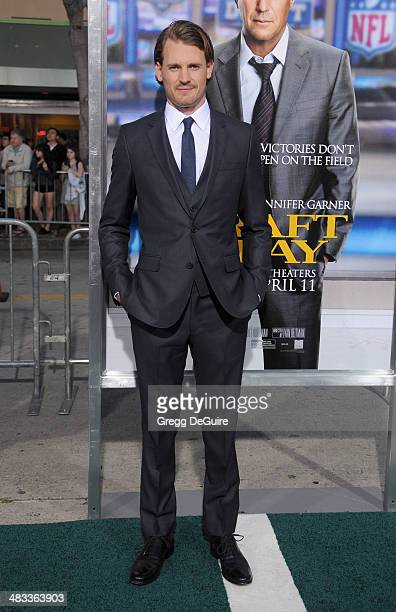 Actor Josh Pence arrives at the Los Angeles premiere of Draft Day at Regency Village Theatre on April 7 2014 in Westwood California