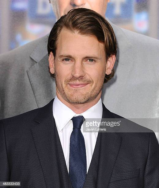 Actor Josh Pence attends the premiere of Draft Day at Regency Bruin Theatre on April 7 2014 in Los Angeles California