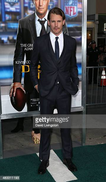 Actor Josh Pence attends the premiere of Summit Entertainment's Draft Day at the Regency Village Theatre on April 7 2014 in Los Angeles California
