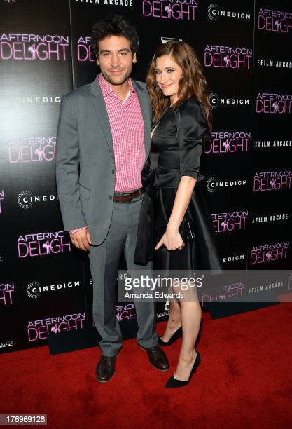 Actor Josh Radnor and actress Kathryn Hahn arrive at the Los Angeles premiere of Afternoon Delight at ArcLight Hollywood on August 19 2013 in...