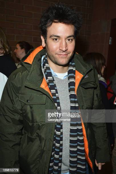 Actor Josh Radnor attends the Before Midnight premiere at Eccles Center Theatre during the 2013 Sundance Film Festival on January 20 2013 in Park...