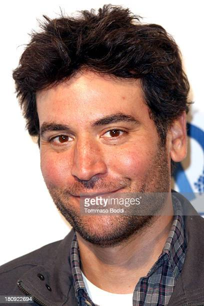 Actor Josh Radnor attends the Butch Walker Out Of Focus Los Angeles premiere at Laemmle's Music Hall 3 on September 17 2013 in Beverly Hills...