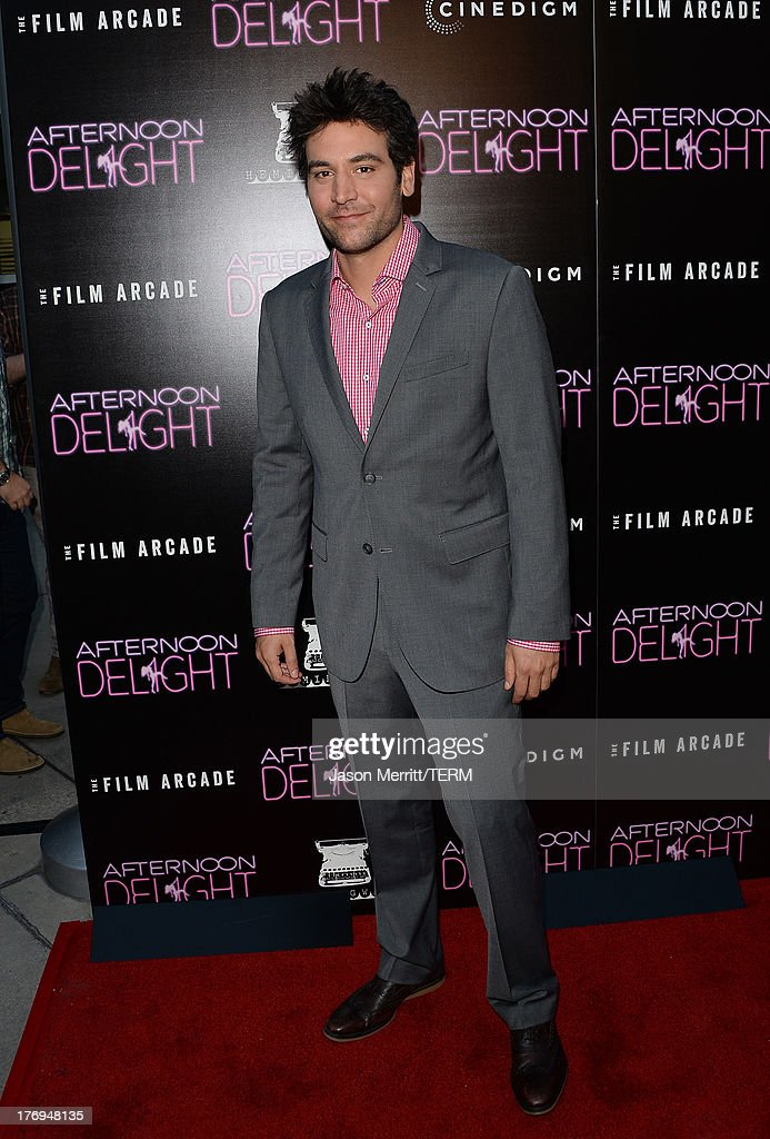 Actor Josh Radnor attends the premiere of the Film Arcade and Cinedigm's 'Afternoon Delight' at ArcLight Hollywood on August 19, 2013 in Hollywood, California.
