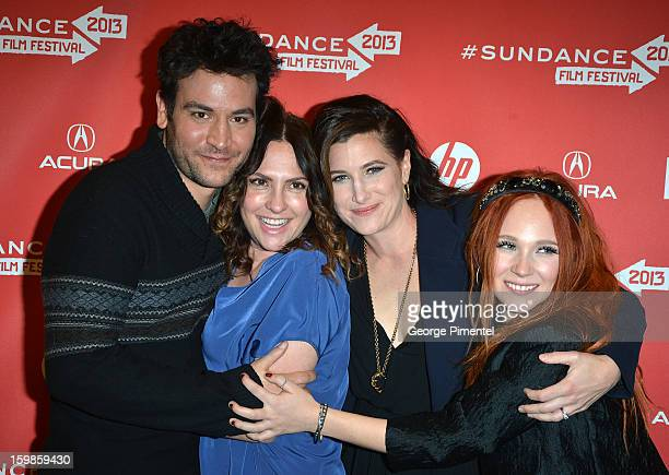 """Actor Josh Radnor, director Jill Soloway and actors Kathryn Hahn and Juno Temple attend the """"Afternoon Delight"""" premiere at Eccles Center Theatre..."""