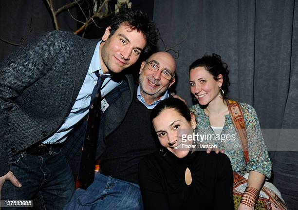 Actor Josh Radnor father Alan Radnor and sisters Melanie Silverman and Joanna Vilensky attend Sheets Energy presents BCDF Sundance Cocktail Party at...