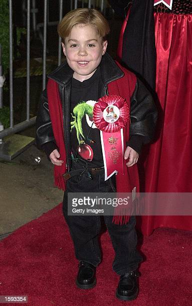 Actor Josh Ryan Evans arrives for the Hollywood Christmas Parade November 26 2000 in Hollywood CA