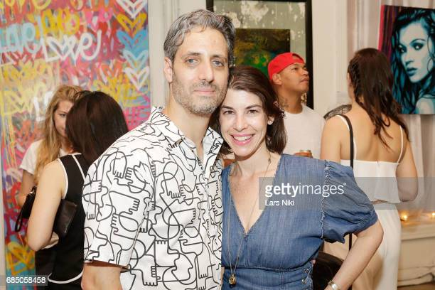 Actor Josh Saviano and Jennifer Saviano attend the GOOD LUCK AMERICA Secret Charity Event to Benefit Art Start at Good Luck Brooklyn Gallery on May...