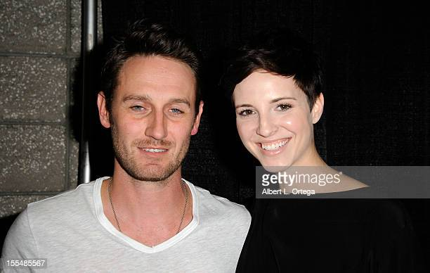 Actor Josh Stewart and actress Emma Fitzpatrick attend 2012 Long Beach Comic And Horror Con held at Long Beach Convention Center on November 3 2012...