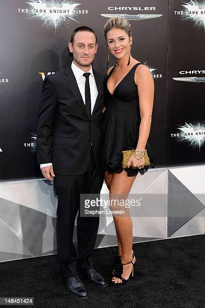 Actor Josh Stewart and Deanna BrigidiStewart attend The Dark Knight Rises premiere at AMC Lincoln Square Theater on July 16 2012 in New York City