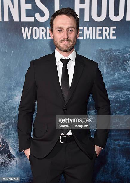 """Actor Josh Stewart and the cast of Disney's """"The Finest Hours"""" were greeted by the US Coast Guard Band Honor Guard and throngs of fans at the film's..."""