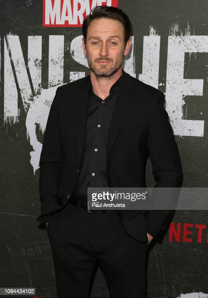 Actor Josh Stewart attends Marvel's The Punisher Los Angeles premiere at the ArcLight Hollywood on January 14 2019 in Hollywood California