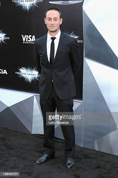 Actor Josh Stewart attends The Dark Knight Rises premiere at AMC Lincoln Square Theater on July 16 2012 in New York City