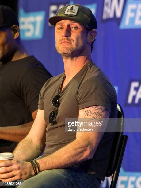 Actor Josh Stewart during the Walker Stalker Fan Fest at Donald E Stephens Convention Center on April 20 2019 in Chicago Illinois