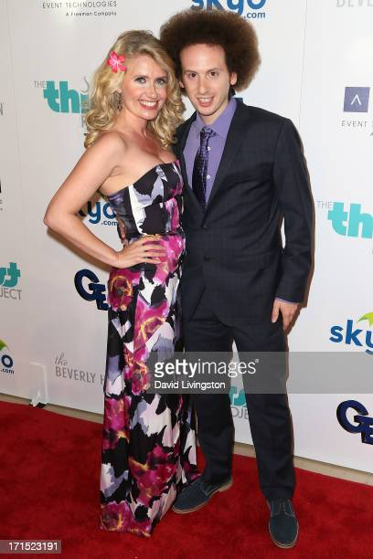Actor Josh Sussman and Tess Hunt attend the 4th Annual Thirst Gala at The Beverly Hilton Hotel on June 25 2013 in Beverly Hills California