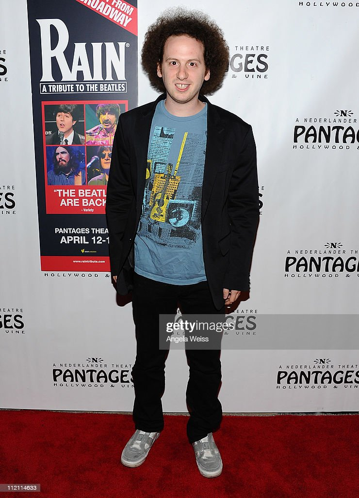 Actor Josh Sussman arrives at the opening night of 'Rain- A Tribute To The Beatles' at the Pantages Theatre on April 12, 2011 in Hollywood, California.
