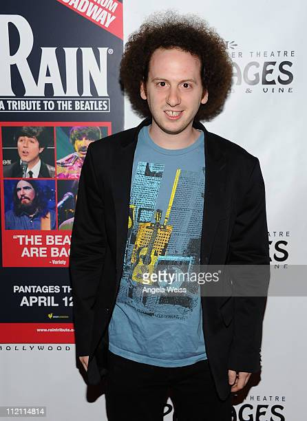 Actor Josh Sussman arrives at the opening night of 'Rain A Tribute To The Beatles' at the Pantages Theatre on April 12 2011 in Hollywood California