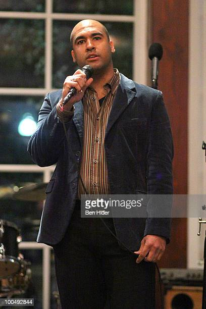 Actor Josh Tower performs at the Urban Stages' 26th Annual Benefit Celebrating The Harlem Renaissance Then and Now at Loeb Central Park Boathouse on...