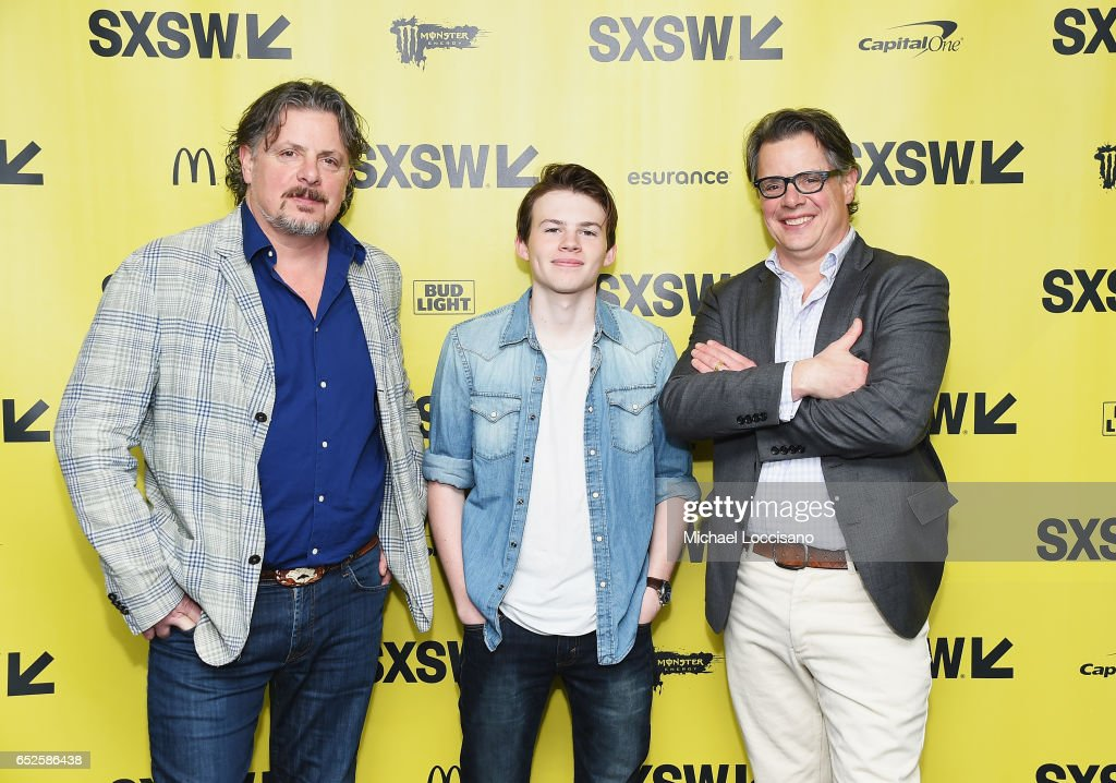 Actor Josh Wiggins (C) and co-Directors Alex Smith (L) and Andrew J. Smith attend the 'Walking Out' premiere during 2017 SXSW Conference and Festivals at the ZACH Theatre on March 12, 2017 in Austin, Texas.