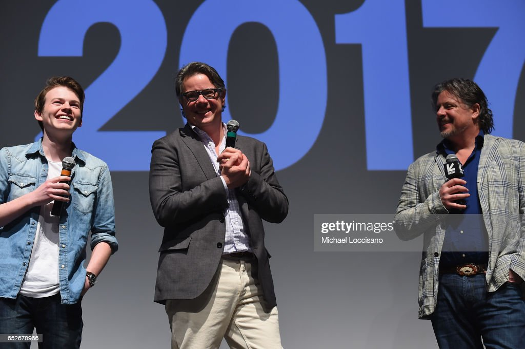 Actor Josh Wiggins and Co-Directors Andrew J. Smith and Alex Smith attend the 'Walking Out' premiere during 2017 SXSW Conference and Festivals at the ZACH Theatre on March 12, 2017 in Austin, Texas.