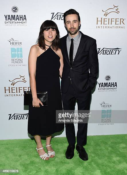 Actor Josh Zuckerman and Julia Pott arrive at the 4th Annual Beyond Hunger Gala at Montage Beverly Hills on September 18 2015 in Beverly Hills...