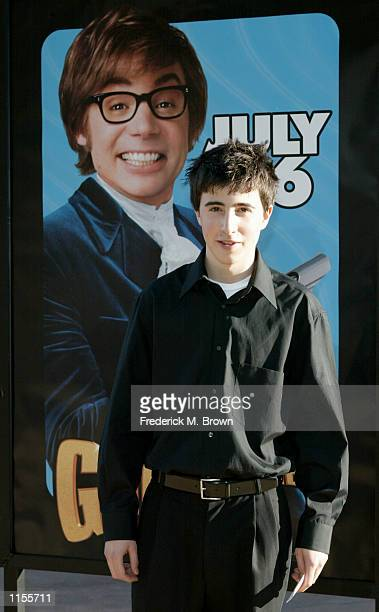 Actor Josh Zuckerman attends the film premiere of Austin Powers in Goldmember on July 22 in Los Angeles California The film opens nationwide on July...
