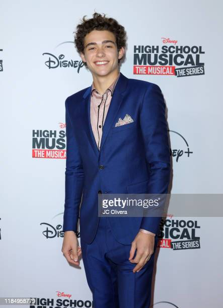 Actor Joshua Bassett attends the premiere of Disney's 'High School Musical The Musical The Series' at Walt Disney Studio Lot on November 01 2019 in...