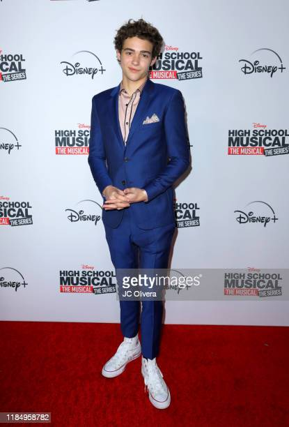 Actor Joshua Bassett attends the premiere of Disney+'s 'High School Musical: The Musical: The Series' at Walt Disney Studio Lot on November 01, 2019...