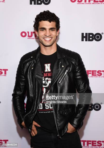 Actor Joshua Diaz arrives at the 2019 Outfest Los Angeles LGBTQ Film Festival Breakthrough Centerpiece Screening of Straight Up at the TCL Chinese 6...