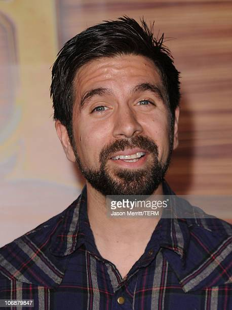 Actor Joshua Gomez arrives with his family at Walt Disney Pictures Presents the Premiere of 'Tangled' at the El Capitan Theatre on November 14 2010...