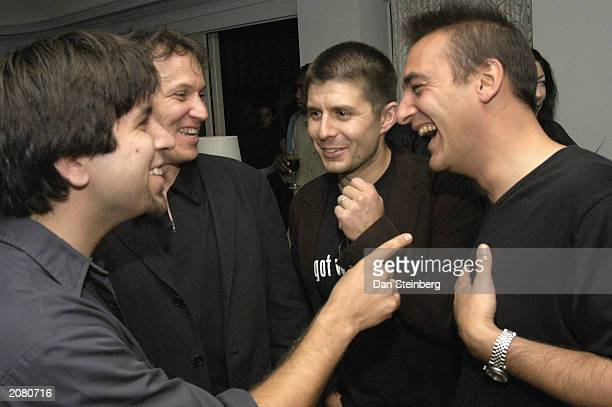 Actor Joshua Gomez Director Damon Santostefano actor Rick Gomez and Producer Rudy Callegari attend the afterparty for the premiere of Last Man...