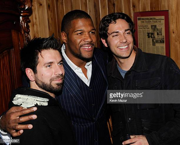Actor Joshua Gomez former NFL player Joshua Gomez and actor Zachary Levi attend the 3rd Annual Saturday Night Spectacular hosted by Kevin Costner and...