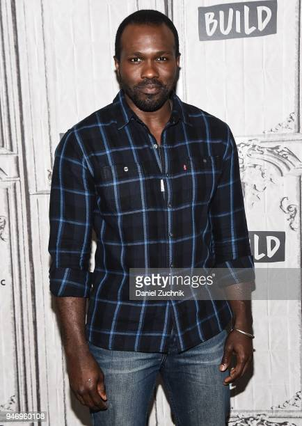 Actor Joshua Henry attends the Build Series to discuss his Broadway show 'Carousel' at Build Studio on April 16 2018 in New York City