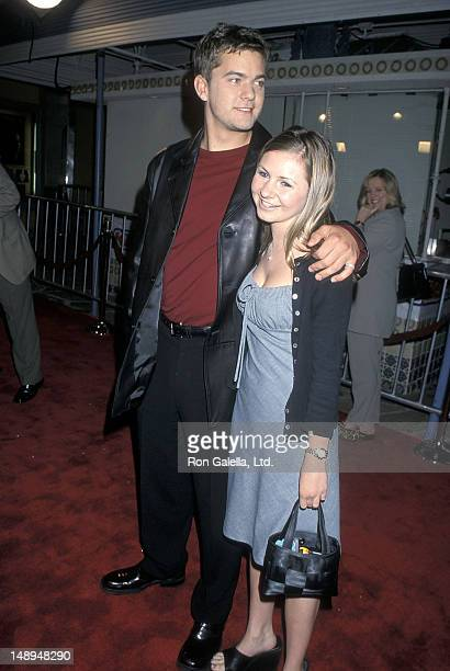 Actor Joshua Jackson and actress Beverly Mitchell attend 'The Skulls' Westwood Premeire on March 27 2000 at the Mann Village Theatre in Westwood...
