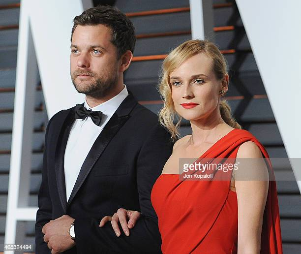 Actor Joshua Jackson and actress Diane Kruger arrive at the 2015 Vanity Fair Oscar Party Hosted By Graydon Carter at Wallis Annenberg Center for the...