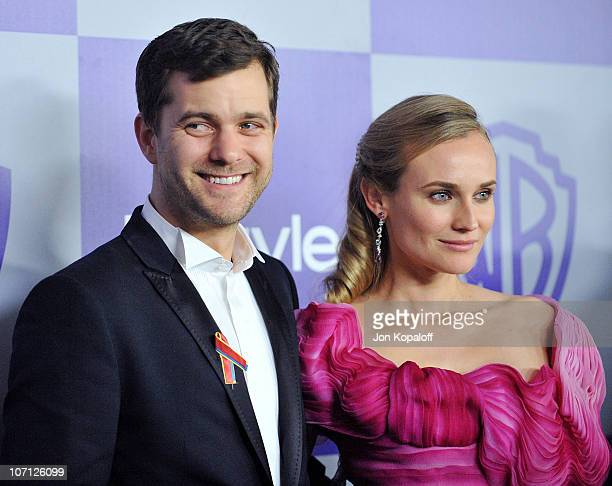 Actor Joshua Jackson and actress Diane Kruger arrive at the Warner Brothers/InStyle Golden Globes After Party at The Beverly Hilton Hotel on January...