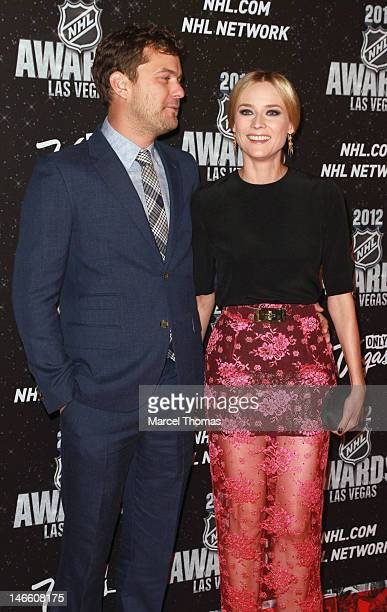 Actor Joshua Jackson and actress Diane Kruger attend the 2012 NHL Awards at Wynn Las Vegas on June 20 2012 in Las Vegas Nevada