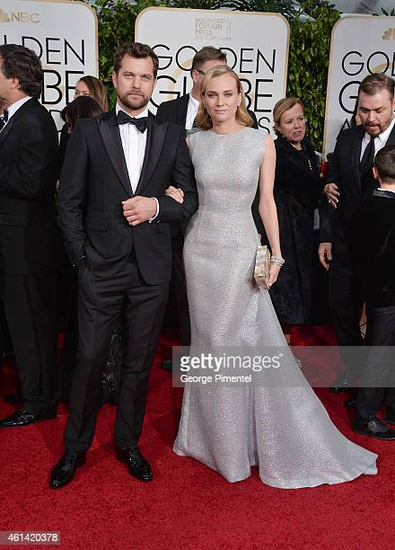 Actor Joshua Jackson and actress Diane Kruger attend the 72nd Annual Golden Globe Awards at The Beverly Hilton Hotel on January 11 2015 in Beverly...