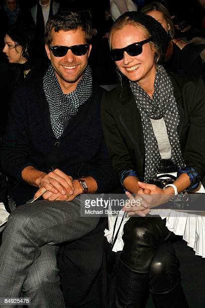 Actor Joshua Jackson and actress Diane Kruger attend the Tommy Hilfiger Fall 2009 fashion show during MercedesBenz Fashion Week in the Tent at Bryant...
