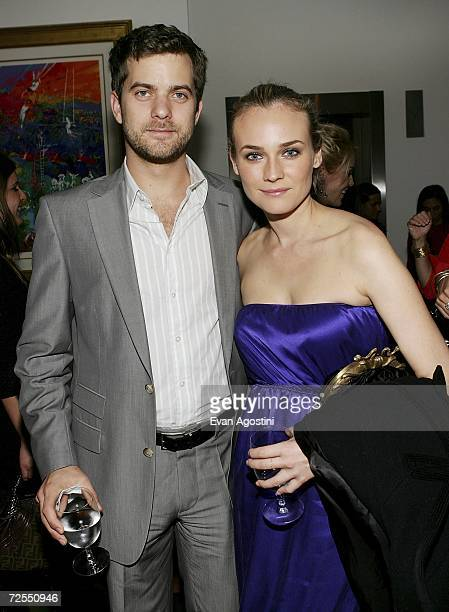 Actor Joshua Jackson and girlfriend actress Diane Kruger attend a special screening after party for the film Bobby hosted by The Weinstein Company at...