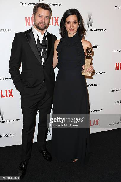 Actor Joshua Jackson and writer/producer Sarah Treem attend the 2015 Weinstein Company and Netflix Golden Globes After Party at Robinsons May Lot on...