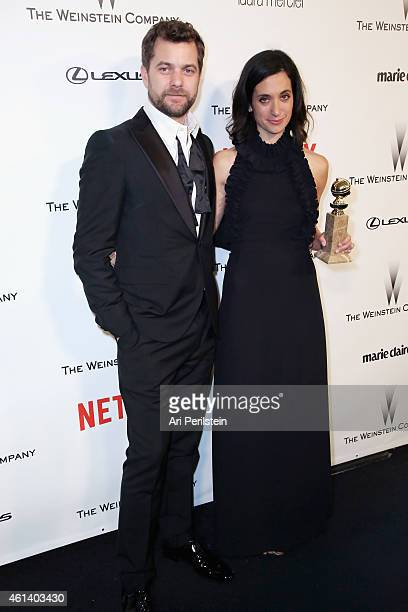 Actor Joshua Jackson and wrtier Sarah Treem attend The Weinstein Company Netflix's 2015 Golden Globes After Party presented by FIJI Water Lexus Laura...