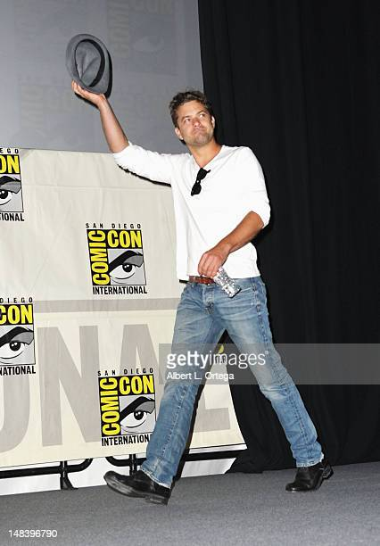 Actor Joshua Jackson attend 'Fringe' Panel during ComicCon International 2012 at San Diego Convention Center on July 15 2012 in San Diego California