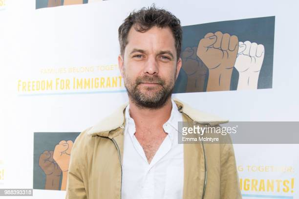 Actor Joshua Jackson attends 'Families Belong Together Freedom for Immigrants March Los Angeles' at Los Angeles City Hall on June 30 2018 in Los...