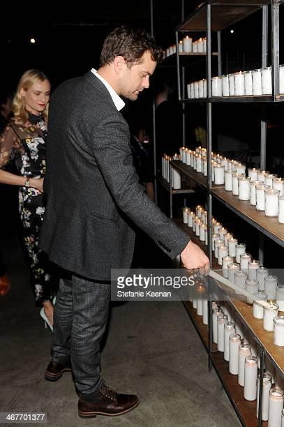 Actor Joshua Jackson attends Hollywood Stands Up To Cancer Event with contributors American Cancer Society and Bristol Myers Squibb hosted by Jim...