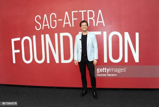 Actor Joshua Jackson attends SAGAFTRA Foundation Conversations On Broadway Joshua Jackson at The Robin Williams Center on April 26 2018 in New York...