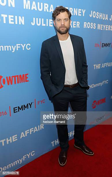 Actor Joshua Jackson attends Showtime THE AFFAIR ATAS FYC Panel on April 18 2016 in New York City